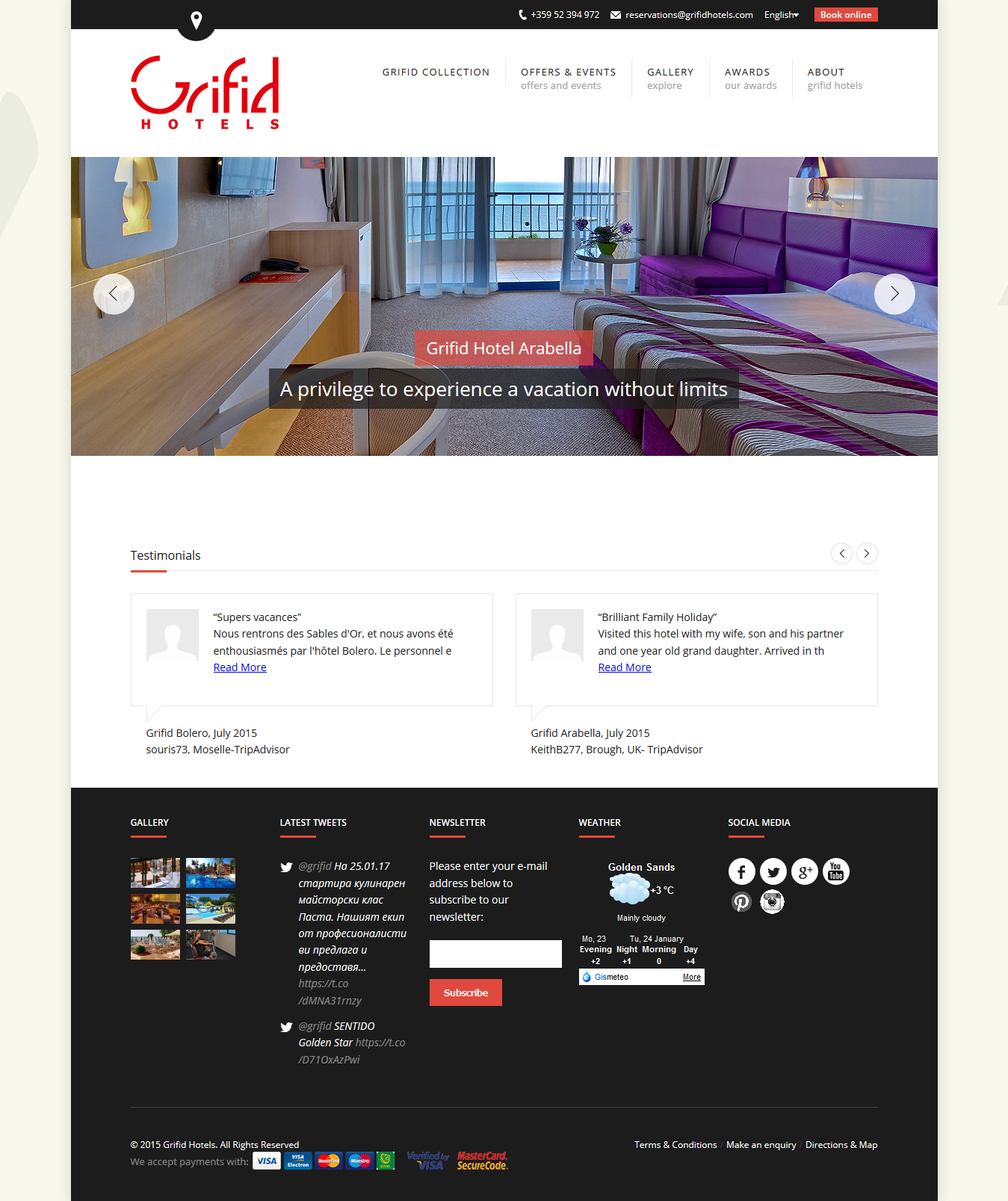 Grifidhotels – The Bulgarian hotel chain